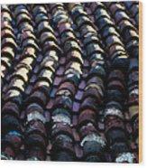 Roof Tiles 2 Wood Print
