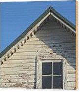 Roofline And Small Barn Facing North Wood Print