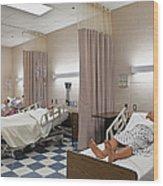 Room In Nursing School Wood Print by Skip Nall