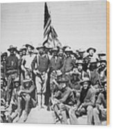 Roosevelt & Rough Riders Wood Print