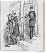 Roosevelt Cartoon, 1884 Wood Print