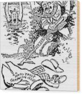 Roosevelt Cartoon, 1902 Wood Print