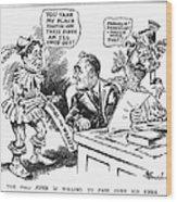 Roosevelt Cartoon, 1934 Wood Print