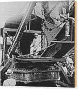 Roosevelt, Panama Canal Construction Wood Print