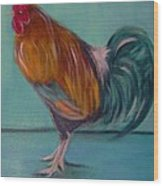 Rooster 2 Wood Print