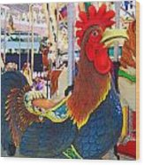 Rooster With An Attitude Wood Print