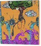 Rooted Envisionary Wood Print by Eleigh Koonce