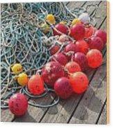 Ropes And Buoys Wood Print
