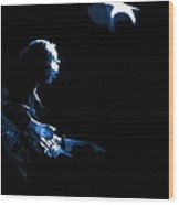 Rory Looks To The Blue Star In The Sky Wood Print