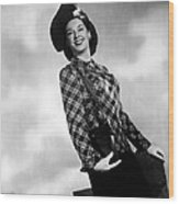 Rosalind Russell, Ca. Early 1940s Wood Print