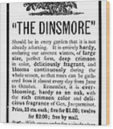 Rose Advertisement, 1890 Wood Print