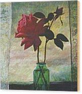 Rose And Rosebud Wood Print