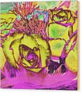 Rose Boquet Art Wood Print
