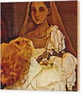 Rose Bride Wood Print