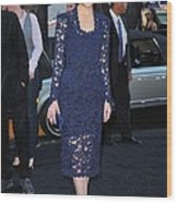 Rose Byrne Wearing A Marc Jacobs Dress Wood Print by Everett