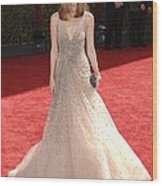 Rose Byrne Wearing A Valentino Gown Wood Print