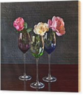 Rose Colored Glasses Wood Print by Peter Chilelli
