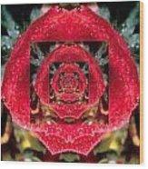 Rose Cut Wood Print