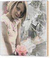 Rose Faery Wood Print