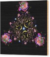 Rose Fractal Wood Print