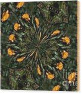 Rose Kaleidoscopic  Wood Print