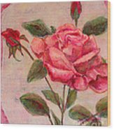 Rose Of Love And Romance Wood Print