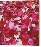 Rose Petals Wood Print