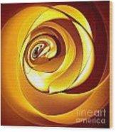 Rose Series - Gold Wood Print