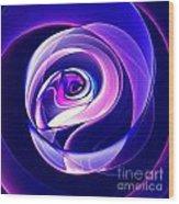 Rose Series - Violet-colored Wood Print