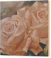 Rose Study Wood Print