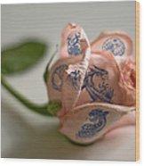 Rose Tatoo Wood Print