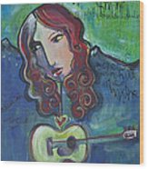 Roseanne Cash Wood Print
