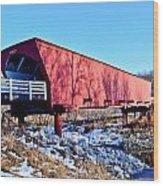 Roseman Covered Bridge Wood Print
