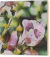 Roses At The Shrine Wood Print