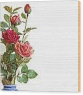 Roses Bouquet Wood Print by Carlos Caetano