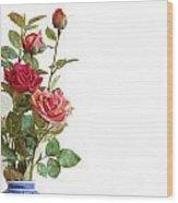 Roses Bouquet Wood Print
