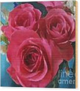 Roses In January Wood Print