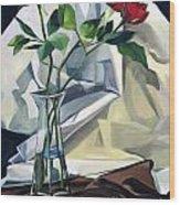Roses Wood Print by Lisa Dionne