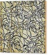 Roses Pattern Wood Print by Setsiri Silapasuwanchai