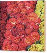 Roses Roses Roses Wood Print