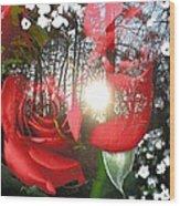 Rosesredred Wood Print