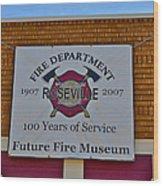 Roseville Fire Department Museum Wood Print