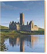 Rosserk Friary, Co Mayo, Ireland 15th Wood Print