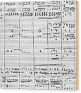 Rossini Manuscript Page Wood Print