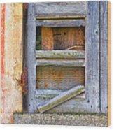 Rotten Shutter Wood Print