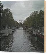 Rotterdam Canal Wood Print