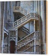 Rouen Cathedral Stairway Wood Print