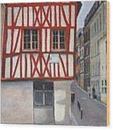 Rouen Street Corner Wood Print