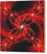 Rouge Et Noir Avec Blanc Wood Print