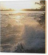 Roughwater Morning Wood Print